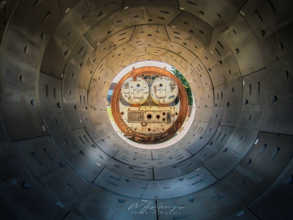 Tunnel - This is a small tunnel boring machine. Although when I say small, that is relative since the actual diameter of this is probably about 30 feet. I couldn't resist snapping a shot down the tube the machine made, not to mention the face staring back at you!